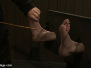 Lily is tickled, finger fucked, vibed, caned, gagged, choked, flogged and denied.