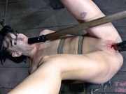 Most girls the size of Elise have trouble taking more than one cock at a time. Once Sister Dee gets to her Elise has a dildo in every hole. Elise says it turns her on to be used up and treated like tr