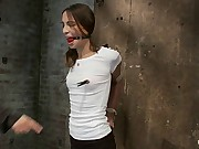 Girl next door is severely bound increased by gaggedWhite panties ripped of increased by made to cum like a whore.