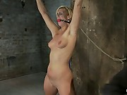 Califorina Blond bound spreadPulled to put emphasize breaking point and made to cum HARD!