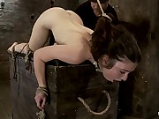 Woman next door bound ass up. Double penetratedSkull fucked & caned, vibrated 2 multiple orgasms