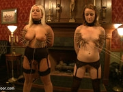 House slaves Jessie Cox and Kait Snow are played off against each other in a lesson about