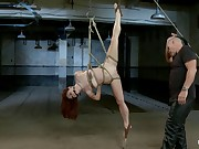 Melody Jordan Contorted in Sharp-witted Rope Bondage