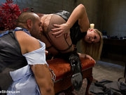 New male sub gets OTK spanked, humiliated and butt fucked deep into subspace by two hot dominant blonds.
